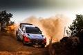 Картинка Занос, WRC, Rally, i20, Пыль, Hyundai