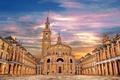 Картинка дома, площадь, церковь, Испания, Астурия, Хихон