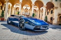 Картинка Lamborghini Murciélago, отражение, автомобиль, суперкар, колонны, синий, дворец, тюнинг, блеск