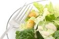 Картинка вилка, салат, еда, цезарь, овощи