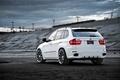 Картинка белый, небо, бмв, BMW, white, задняя часть, кроссовер