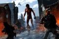 Картинка солдаты, Eren Yeager, titan, разрушение, Attack On Titan, деревня, Shingeki no Kyojin, Titan Shifter, Вторжение ...