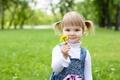 Картинка цветы, парк, дети, ребенок, маленькая девочка, детство, child, trees, flower, little girl, happiness, park, childhood, ...