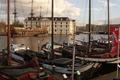 Картинка пристань, лодки, Амстердам
