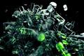 Картинка Предметы, цилиндры, зеленый, прозрачный