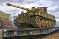 Картинка panzerkampfwagen, panzer tank, tiger tank, panzer Vl, ww2, art, german tank, war