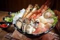 Картинка рыба, креветки, моллюски