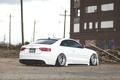 Картинка Audi, ауди, white, rear, low, stance