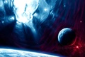 Картинка red, blue, planets, sci fi