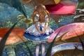 Картинка девочка, Alice in Wonderland, грибы, Alice, Алиса, бантики