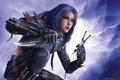 Картинка Guild wars, воин, девушка, ножи