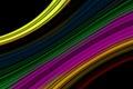 Картинка лучи, свет, линии, цвет, радуга, изгиб