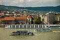 Картинка Danube River, теплоходы, набережная, панорама, Венгрия, Hungary, здания, Будапешт, Дунай, река, Budapest