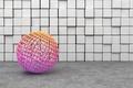 Картинка стена, шар, кубики, зd