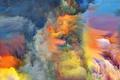 Картинка дым, краски, яркость