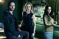 Картинка future, woman, man, show, official wallpaper, TV series, Aaron Stanford, SyFy, virus, time travel, viruses, ...