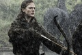 Картинка Роуз Лесли, Rose Leslie, Игра Престолов, Game of Thrones, дождь, девушка, Ygritte, лук