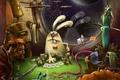 Картинка карты, кролик, космос