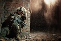Картинка soldier, wall, explosion, Special Operations, Marine Corps Forces, United States, protective equipment