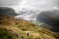 Картинка долина, Великoбритaния, путник, Англия, туман