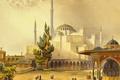 Картинка картина, минарет, мечеть, город, Собор Святой Софии, Стамбул, Турция, Айия-Софья