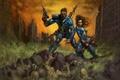 Картинка Fallout, кости, развалины, рисунок