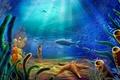 Картинка Дно, вода, рисунок, рыбы