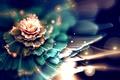 Картинка размытость, боке, фрактал, сияние, абстракция, цветок