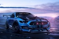 Картинка Ford, Shelby, Muscle, Car, Art, Blue, GT350, 2015, by Khyzyl Saleem, Mustant