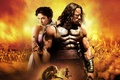 Картинка Action, Fantasy, Hero, Lightning, Body, Warrior, with, Wallpaper, Lion, Eyes, Effect, Dwayne Johnson, Hercules, Army, ...