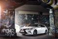 Картинка авто, свет, стена, граффити, Lexus, лексус, ES 200