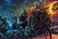 Картинка собаки, велосипед, звери, человек, цирк, медведь, арт, зомби, слоны, опастность, пудели