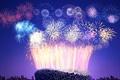 Картинка Китай, стадион, Пекин, Новый год, фейерверк, салют
