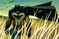 Картинка cloak, field, comics, wind, mask, art, superhero, fantasy, man, Batman, Bruce Wayne, DC Comics, artwork, ...