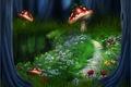 Картинка цветы, пути, природа, пейзаж, река, лес