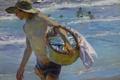 Картинка море, картина, жанровая, дети, Хоакин Соролья, Рыбак