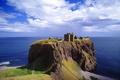 Картинка Замок, развалины, мыс, вода