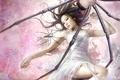 Картинка I-chen lin, девушка, пауки, паутина