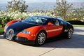 Картинка Bugatti, Veyron, Red, Black, Valley, Profile