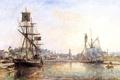Картинка картина, живопись, painting, The Honfleur Port