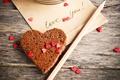 Картинка сердечки, love you, карандаш, сердце, печенье, надпись