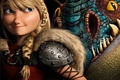 Картинка Action, Backround, How to Train Your Dragon 2, Blue, Dark, Blonde, Girl, Film, Eyes, Animation, ...