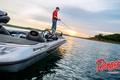 Картинка небо, вода, рыбак, рыбалка, Ranger, берег, спиннинг, лодка