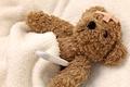 Картинка игрушка, мишка, одеяло, градусник, болезнь, мягкая, Лейкопластырь