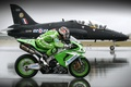 Картинка Мотоцикл, самолёт, впп, на перегонки, скорость