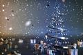 Картинка украшения, огни, креатив, шары, сталь, ель, звёзды, подарки, Новый год, ёлка, коробки, Christmas tree, gifts, ...