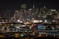 Картинка огни, ночь, Калифорния, Сан-Франциско, США