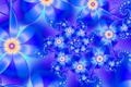 Картинка цветы, лепестки, синий