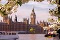 Картинка Англия, Лондон, Город, Река, Здание Парламента