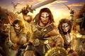 Картинка Age of conan hyborian adventures, герои, драконы, война